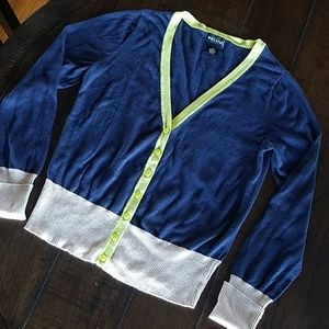Wet Seal 3 Color Block Cardigan